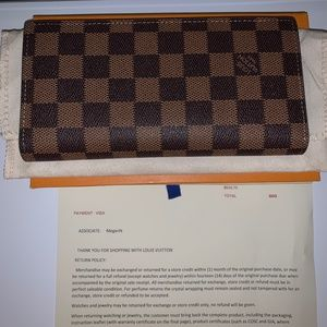 Louis Vuitton checkbook wallet